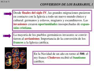 CONVERSION DE LOS BARBAROS, 1