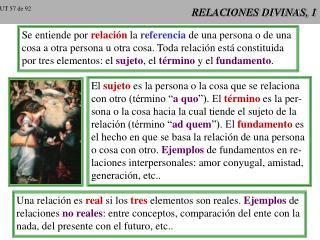 RELACIONES DIVINAS, 1