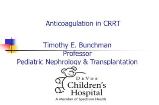 Anticoagulation in CRRT