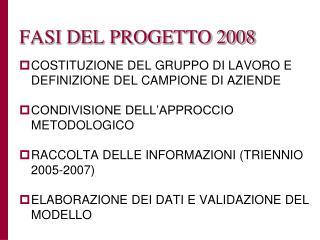 FASI DEL PROGETTO 2008
