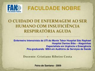 Docente: Cristiano Ribeiro Costa