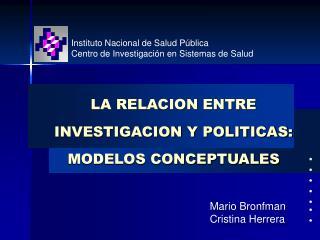 Instituto Nacional de Salud P blica Centro de Investigaci n en Sistemas de Salud