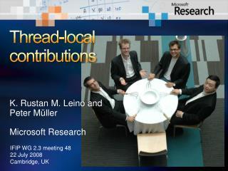 Thread-local contributions
