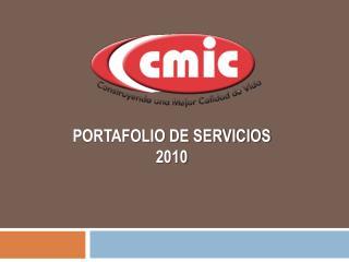 PORTAFOLIO DE SERVICIOS 2010