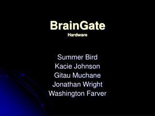 BrainGate Hardware