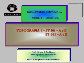 TOPOGRAFIA  I   ST 301   A e B                                      ST  513   A e B