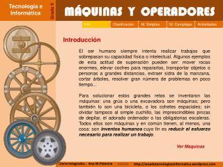 M QUINAS  Y  OPERADORES
