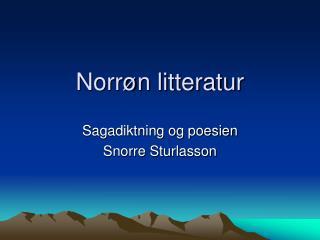 Norr n litteratur