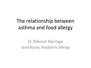 Astma bronchiale a alergie
