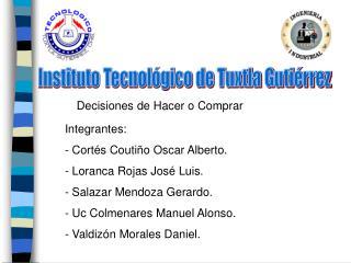 Instituto Tecnol gico de Tuxtla Guti rrez