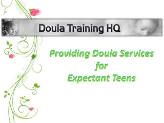Providing Doula Services for Expectant Teens