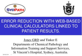 ERROR REDUCTION WITH WEB-BASED CLINICAL CALCULATORS LINKED TO PATIENT RESULTS.