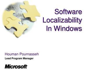 Software Localizability In Windows