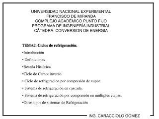 UNIVERSIDAD NACIONAL EXPERIMENTAL FRANCISCO DE MIRANDA                               COMPLEJO ACAD MICO PUNTO FIJO    PR