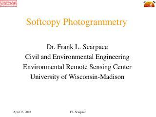 Softcopy Photogrammetry