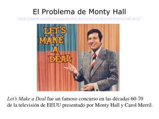 El Problema de Monty Hall  estadisticaparatodos.es