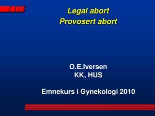 Legal abort Provosert abort