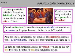 FORMULACI N DOGM TICA, 1