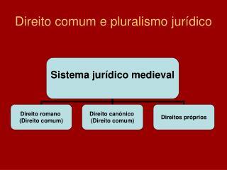 Direito comum e pluralismo jur dico