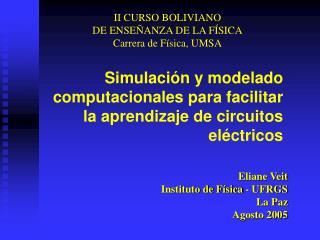 Simulaci n y modelado computacionales para facilitar la aprendizaje de circuitos el ctricos