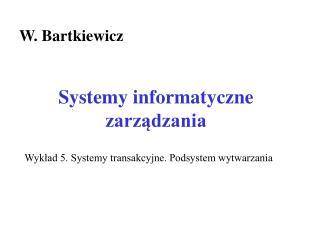 Systemy informatyczne  zarzadzania