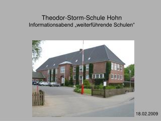 Theodor-Storm-Schule Hohn  Informationsabend  weiterf hrende Schulen