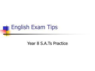 English Exam Tips