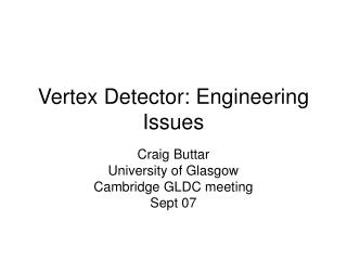 Vertex Detector: Engineering Issues