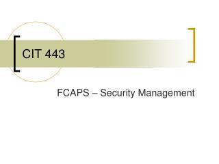 CIT 443