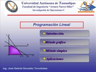 Programaci n Lineal