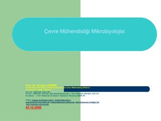 evre M hendisligi Mikrobiyolojisi