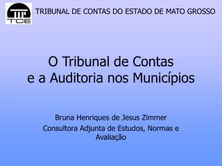 O Tribunal de Contas  e a Auditoria nos Munic pios