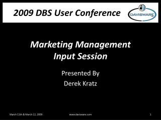 Marketing Management Input Session