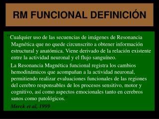 RM FUNCIONAL DEFINICI N