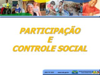 PARTICIPA  O  E CONTROLE SOCIAL