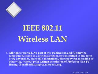 Wireless LAN Architecture