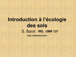 Introduction   l  cologie des sols