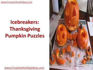 Icebreakers: Thanksgiving - Pumpkin Puzzles