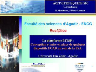 Facult  des sciences d Agadir - ENCG Restice