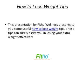 How to Lose Weight Tips