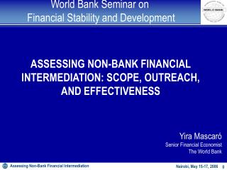World Bank Seminar on  Financial Stability and Development