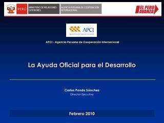La Ayuda Oficial para el Desarrollo