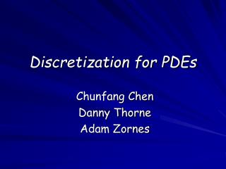 Discretization for PDEs