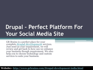 Drupal Perfect Platform For Your Social Media Site