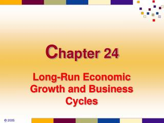 Long-Run Economic Growth and Business Cycles
