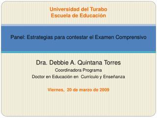 Universidad del Turabo Escuela de Educaci n