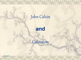 John Calvin  and  Calvinism