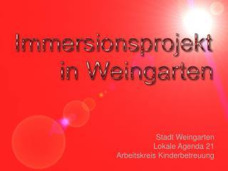 Stadt Weingarten Lokale Agenda 21 Arbeitskreis Kinderbetreuung