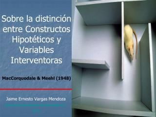 Sobre la distinci n entre Constructos Hipot ticos y Variables Interventoras  MacCorquodale  Meehl 1948