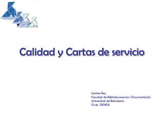 Calidad y Cartas de servicio